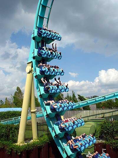 kraken roller coaster photos  sea world orlando