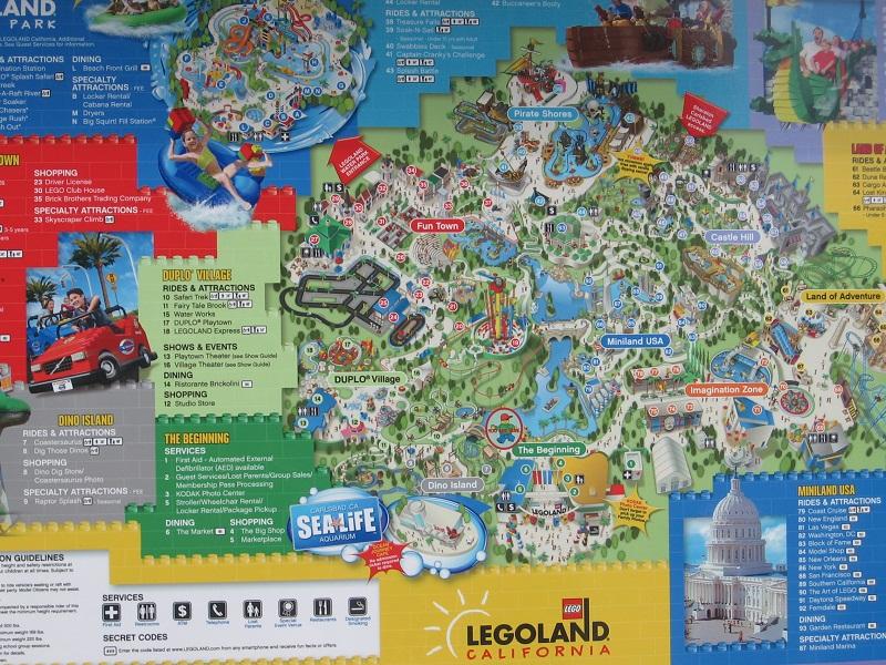 Legoland California 2010 Park Map