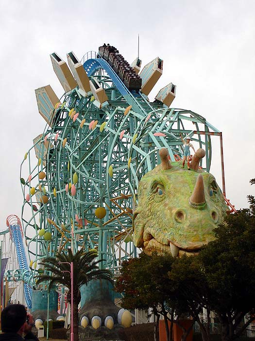 Crazzzzzy Japanese Dinosaur Roller Coaster    Gimme Some Wasabi The Smallest Roller Coaster In The World