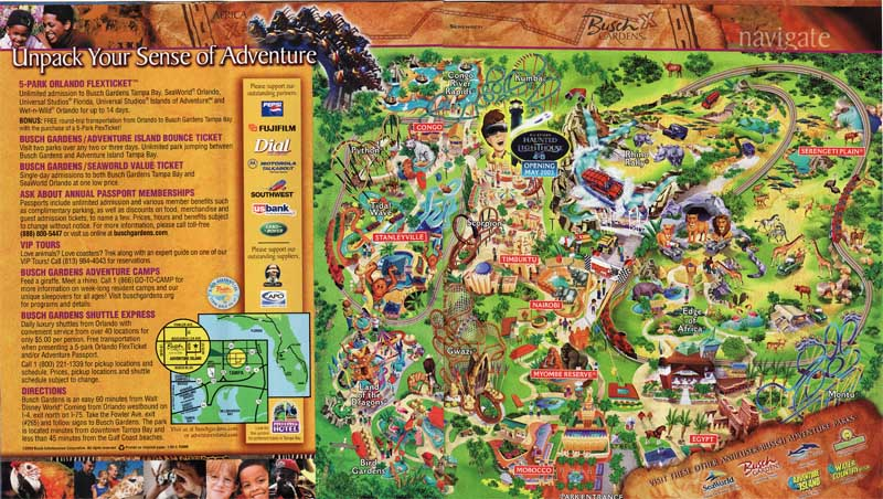 Busch Gardens Tampa - 2003 Park Brochure - courtesy of live2tell75