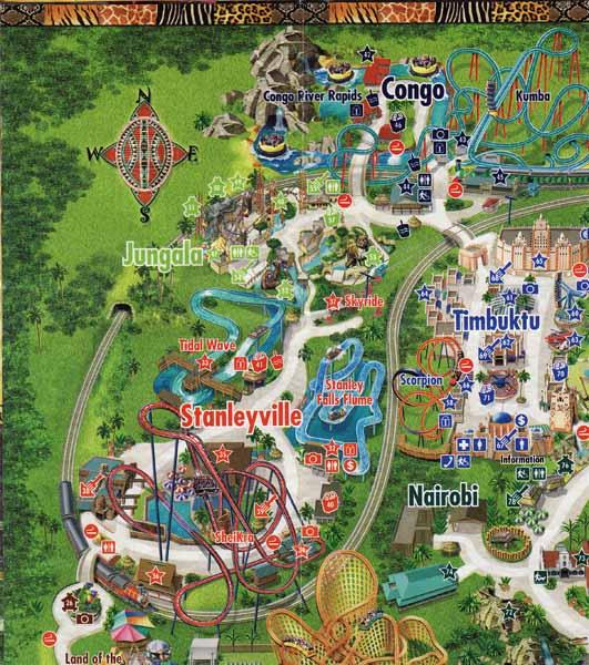 Erics Brochure Kingdom The Return Page Theme Park Review - Bush gardens park map