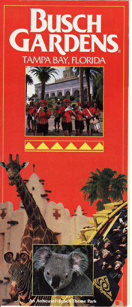 Busch gardens tampa 1992 park brochure courtesy of live2tell75 for Busch gardens telephone number
