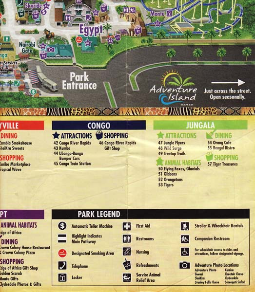 Busch Gardens Tampa Florida Map.Theme Park Review Eric S Brochure Kingdom The Return Page 5