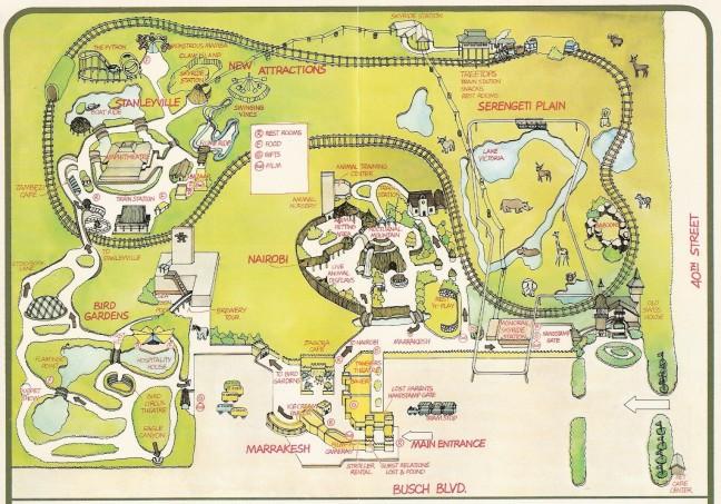 Busch Gardens Tampa Park Map - Bush gardens park map