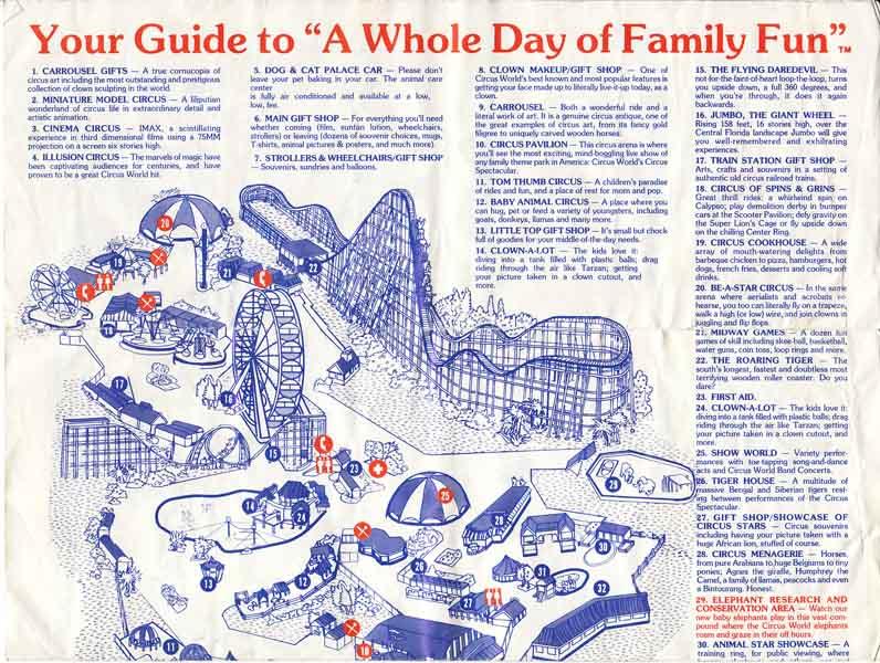 Circus World 1984 Show Schedule