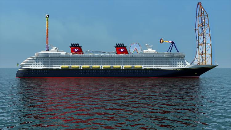 Photoshop Contest Disney Cruise Lines New Attraction Page - Roller coaster on a cruise ship
