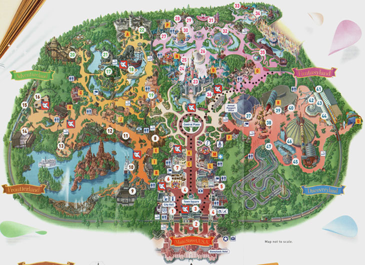 disneyland paris theme park map pictures