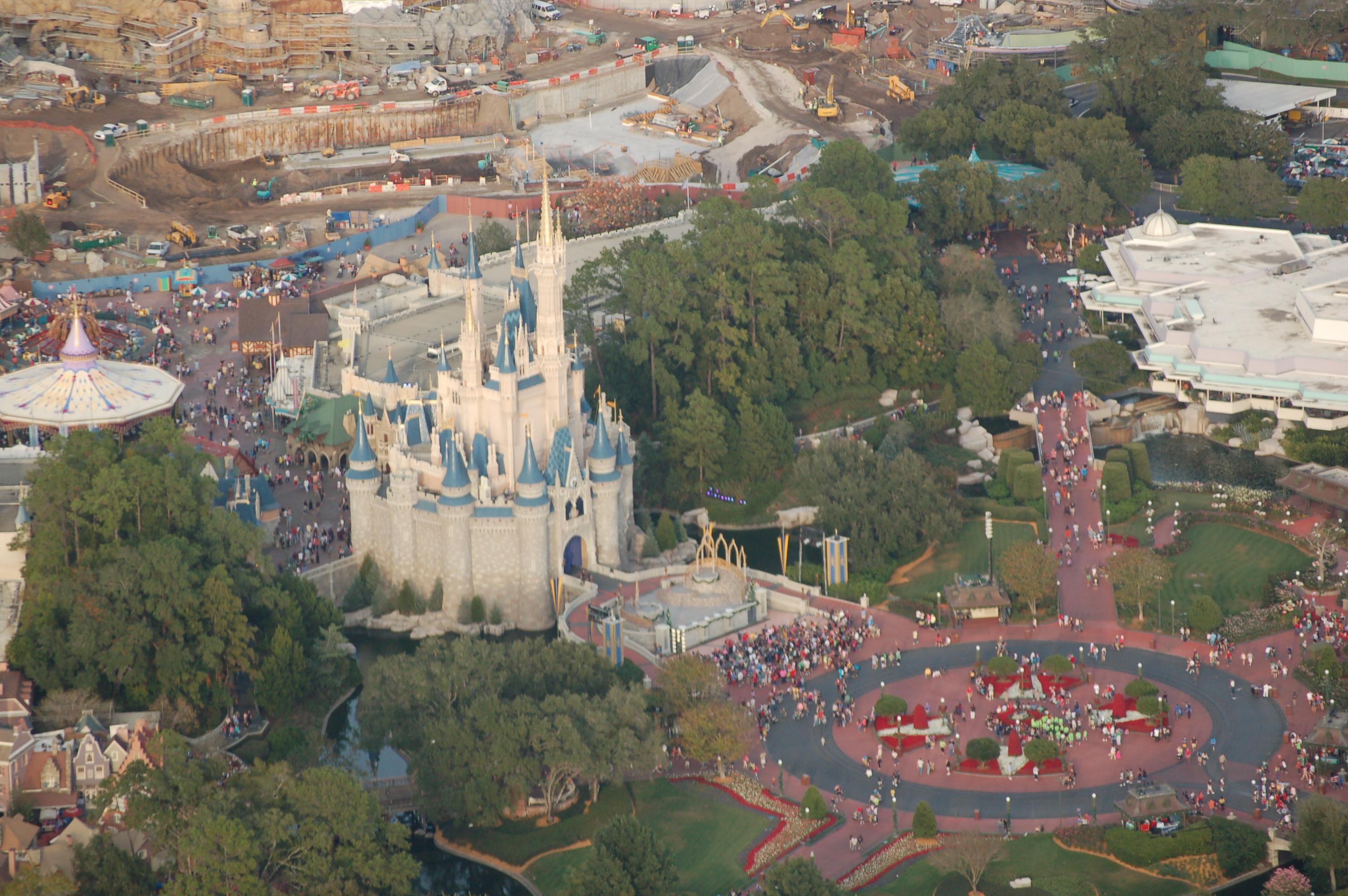 Aerial pictures walt disney world