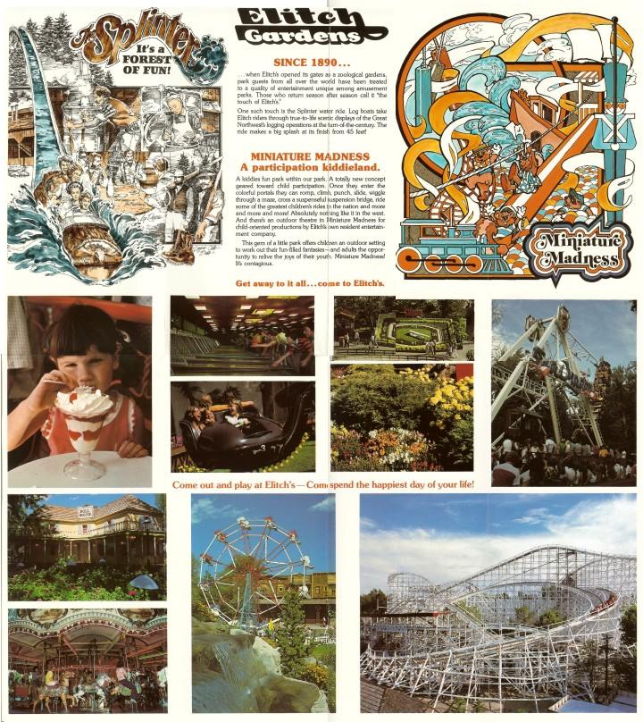 Elitch Gardens 1980 Brochure Shane 39 S Amusement Attic