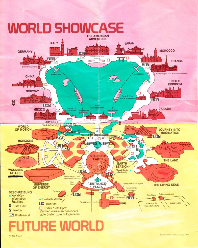 Theme Park Review • 1990 WDW and SeaWorld maps