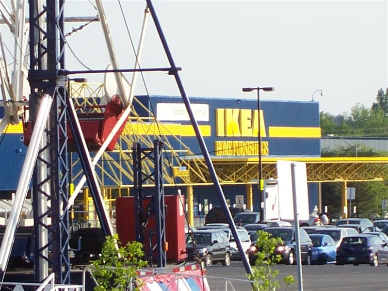 theme park review first photo tr ikea parking lot fair. Black Bedroom Furniture Sets. Home Design Ideas