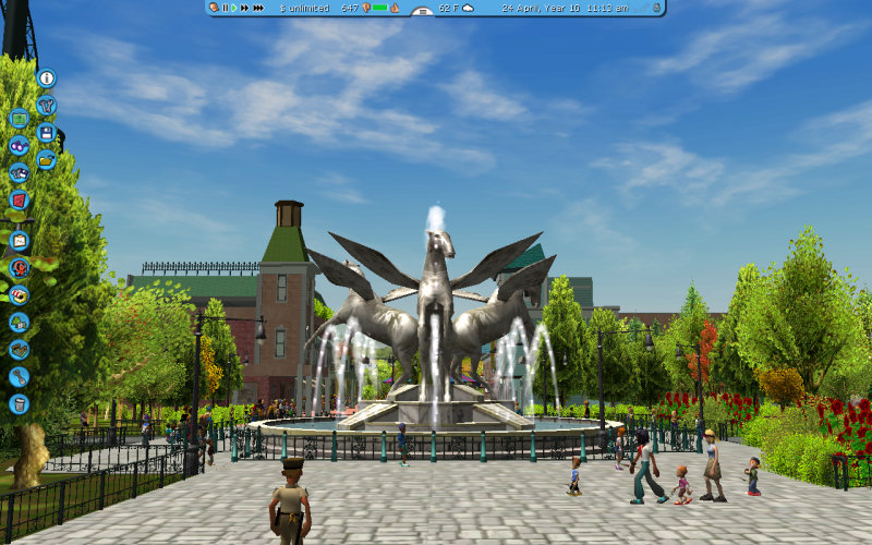 rollercoaster tycoon 3 fountains