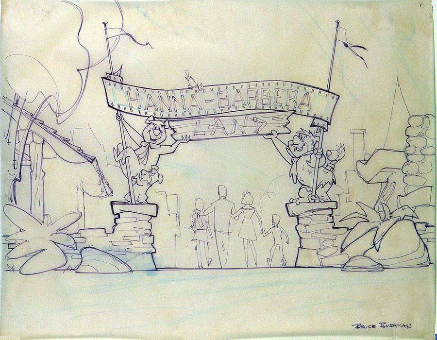 Review Of Artist Design : Theme park review hanna barbera land concept art