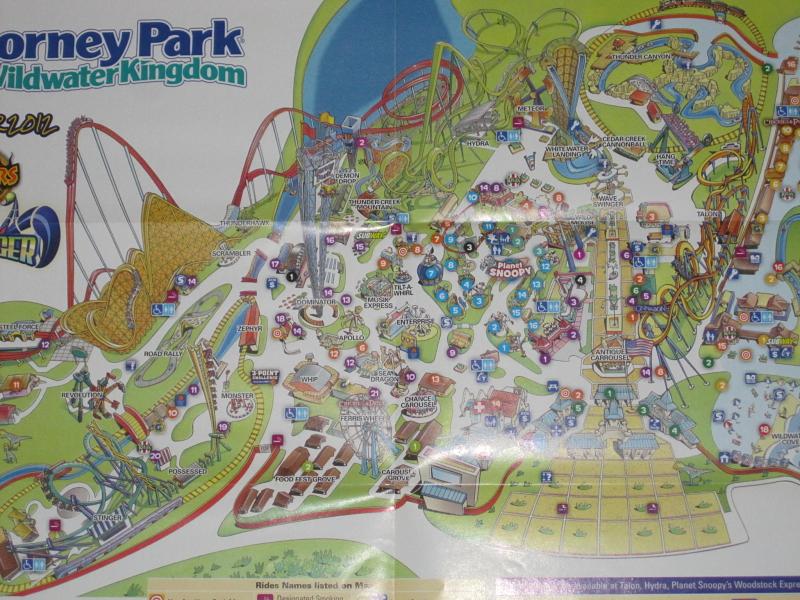 Dorney Park & Wildwater Kingdom - 2012 Park Map* on