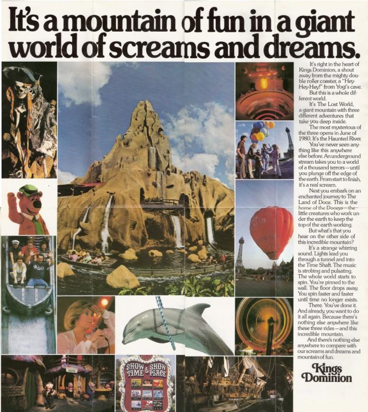 Kings Dominion - Shane's Amusement Attic - 1980 Brochure