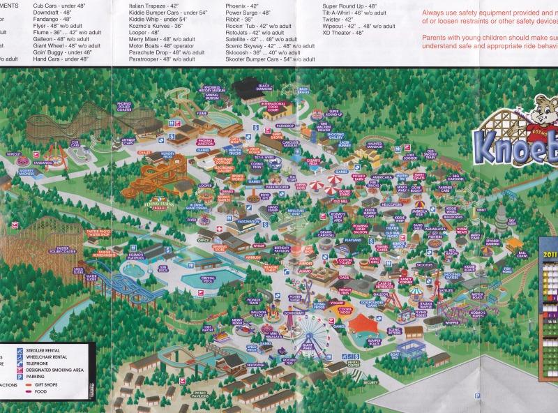 Knoebels Amut Park & Resort - 2011 Park Map on knoebels impulse, knoebels log flume, knoebels amusement park,