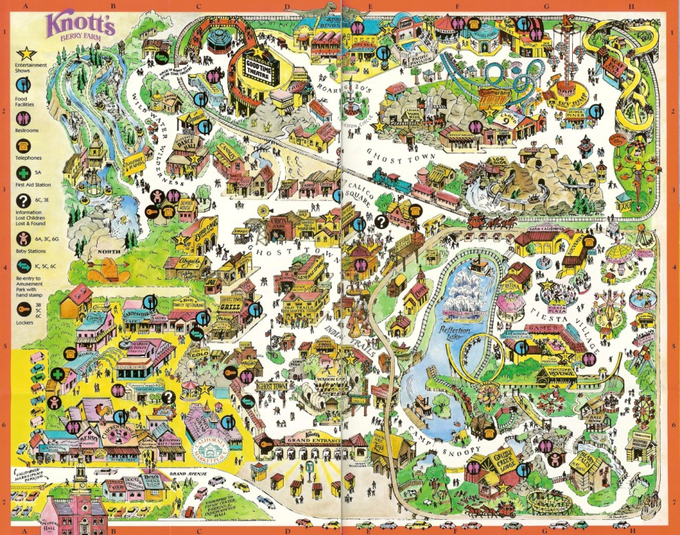 Knott's Berry Farm - 1996 Park Map on usc map, knott's map, kings island map, amtrak map, six flags map, buena park map, chino hills state park map, cedar point map, disneyland map, dollywood map, disney map, hersheypark map, universal studios map, dorney park map, great america map, santa monica map, los angeles map, san diego map, university of southern california map, sesame place map,