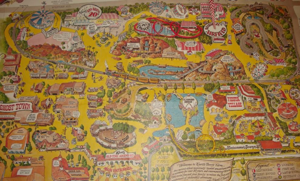 Knott's Berry Farm - 1978 Park Map on