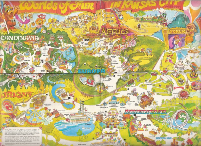 Worlds of Fun 1979 Park Map