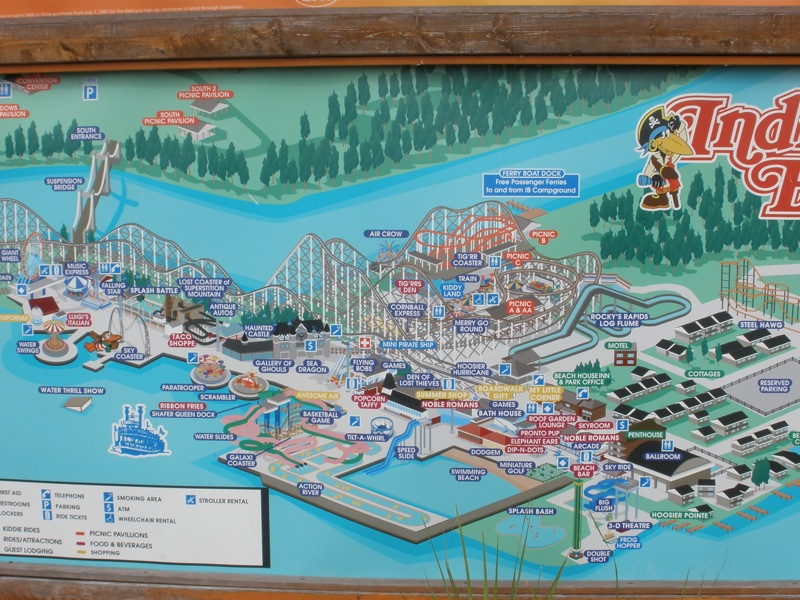 Photo Trip Report Indiana Beach  Theme Park Review