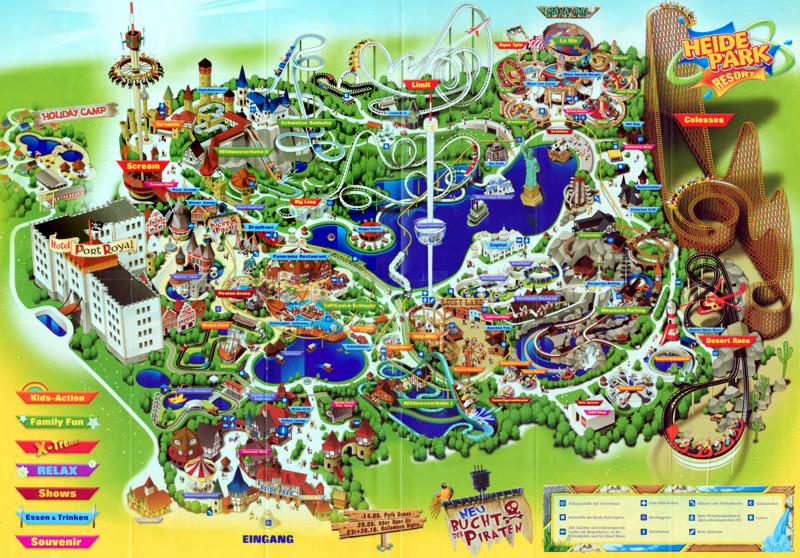 how to draw a theme park map