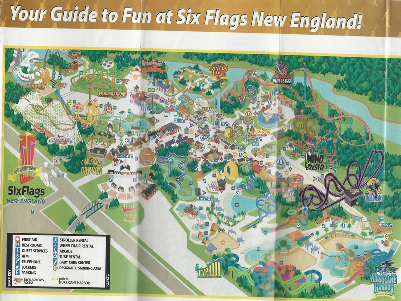 Six flags new england 2006 park map gumiabroncs Choice Image