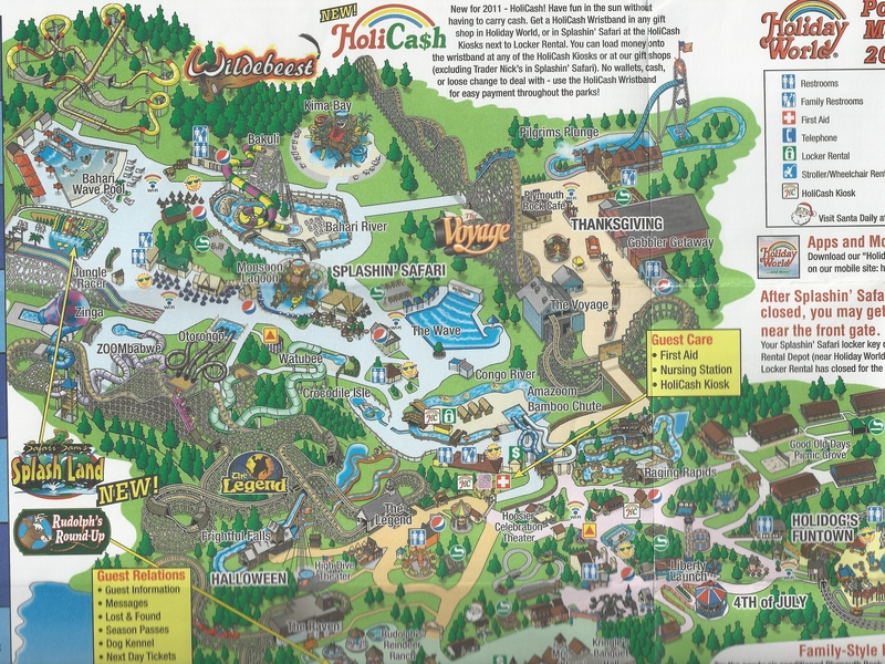 Holiday world 2011 park map photo by molemaster43 gumiabroncs Image collections