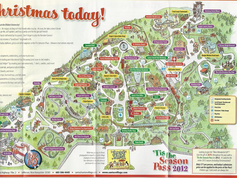 Santa S Village 2012 Park Map