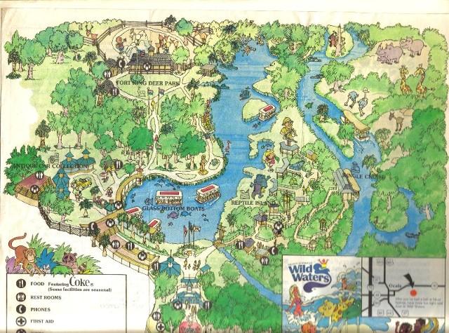 Opryland Usa Map.Theme Park Review Retro Photo Tr 1980 Silver Springs Fl