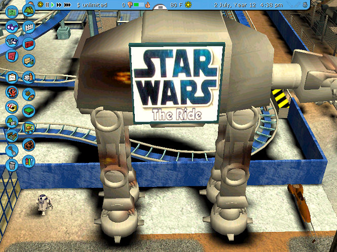 Theme Park Review • [RCT3] Star Wars - The Ride