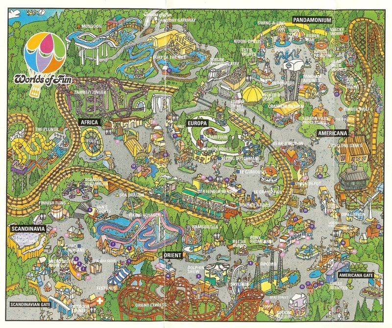 Worlds of Fun 1996 Park Map