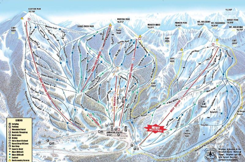 TR AJs Ski Reports Page Theme Park Review - Mammoth mountain trail map