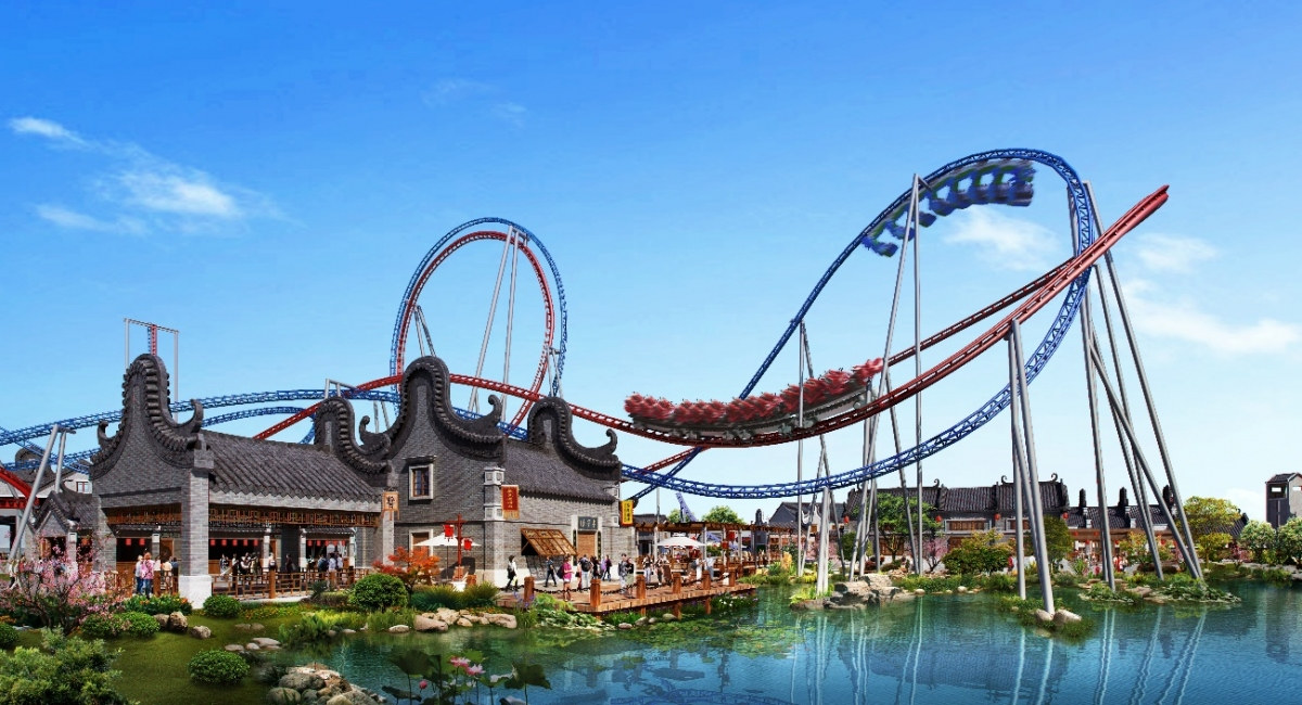 """Connected-Track Spotted for """"Dueling"""" Coaster at Wanda Guangzhou"""