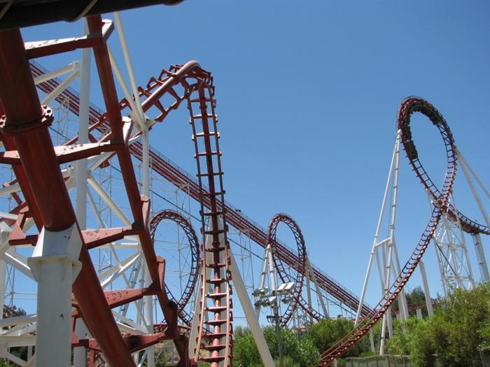Viper Roller Coaster Photos, Six Flags Magic Mountain