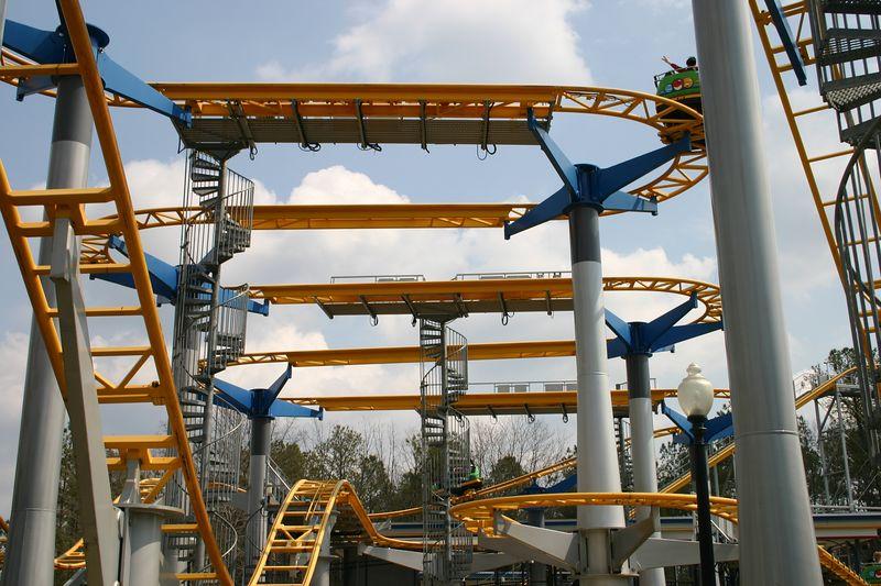 ricochet roller coaster photos kings dominion