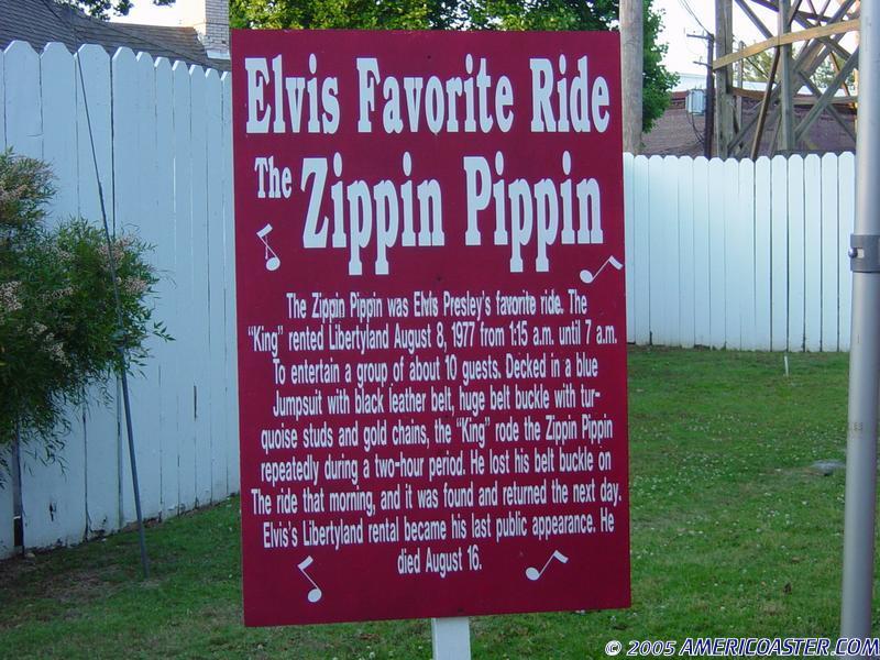 Zippin Pippin Roller Coaster Photos, Libertyland