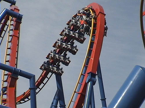 Superman Ultimate Flight Roller Coaster Photos, Six Flags ...