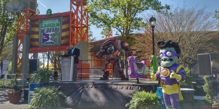 Plants vs. Zombies Media Day at Carowinds!