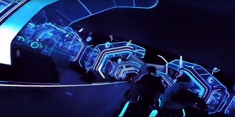 POV Video of Shanghai Disneyland's Tron Coaster!