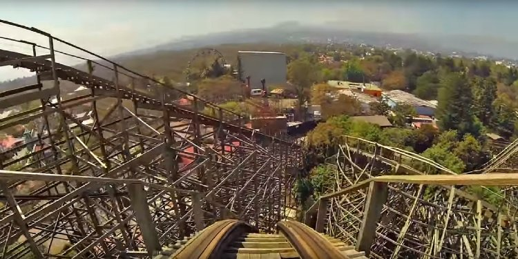 POV Video of Six Flags Mexico