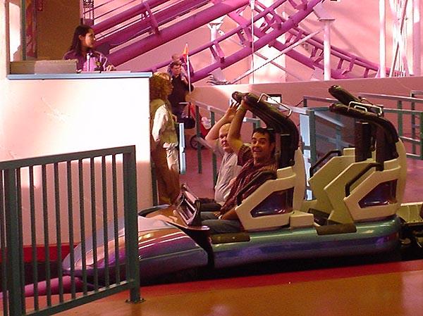 Robb & Gregg on Canyon Blaster Roller Coaster