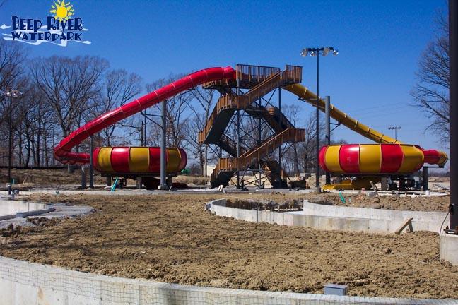 Theme Park Review Deep River Waterpark Construction Pics