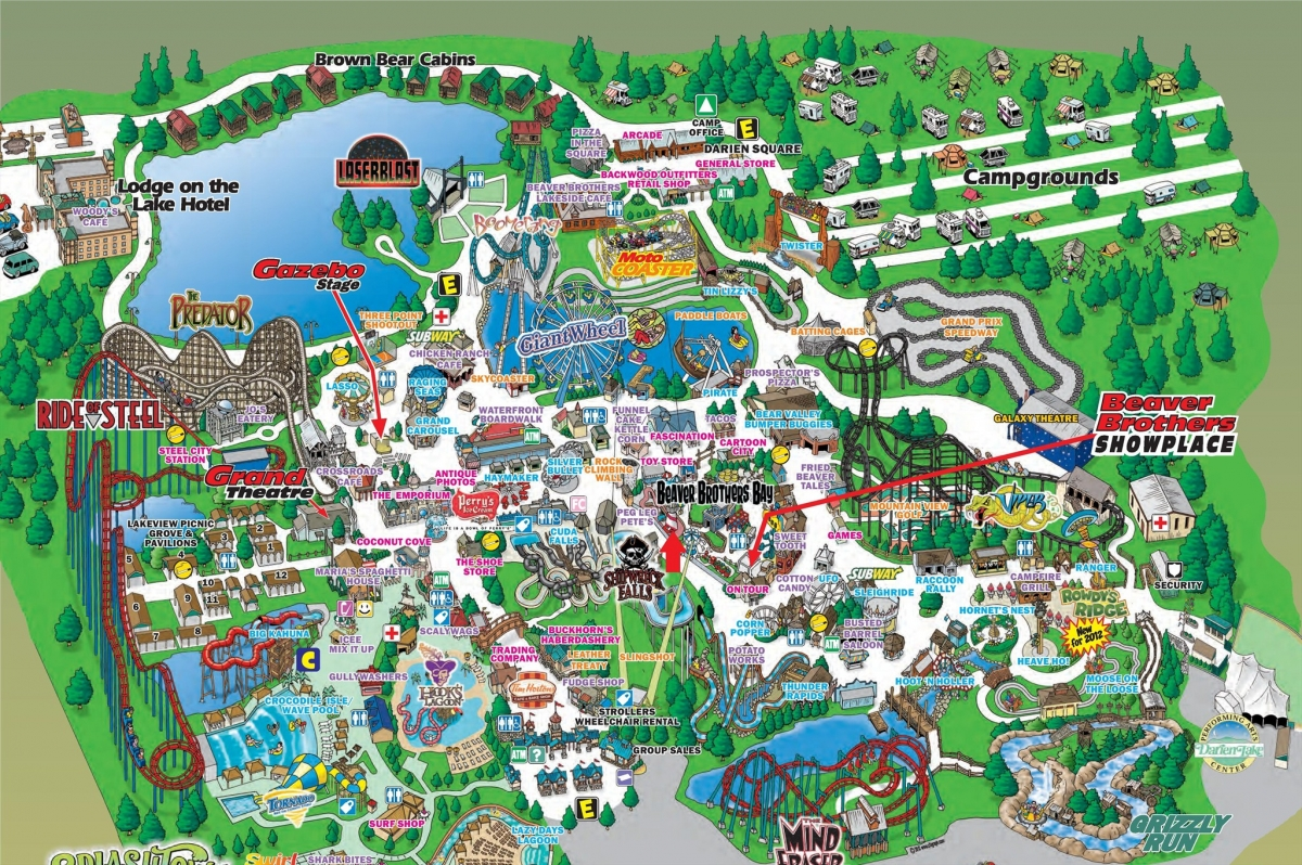 darien lake campground map The Dean S Page Senior Trip To Darien Lake darien lake campground map