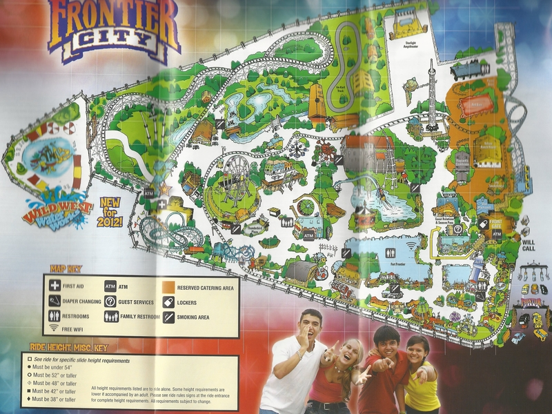 Frontier City Map Frontier City   2012 Park Map