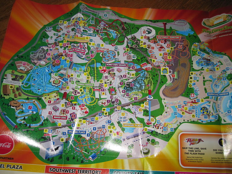 Six Flags Great America Map Six Flags Great America   2012 Park Map*