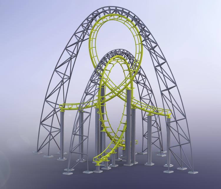 Theme Park Review Cad Ride Models
