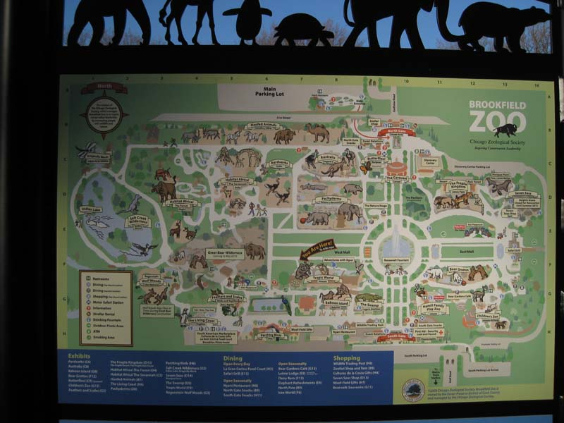 Houston Chicago Map%0A Brookfield Zoo Map Best Image Konpax