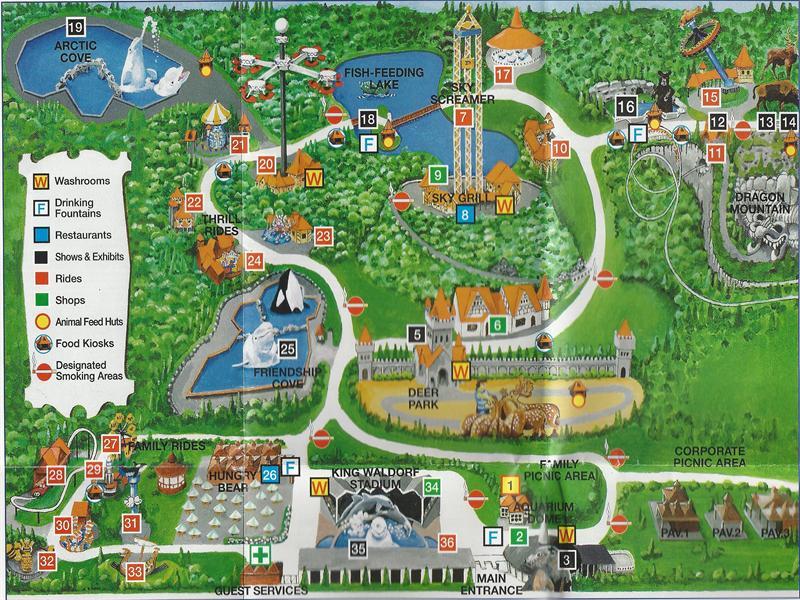 Marineland Canada Map Map Of Us Western States: Marineland Canada Map