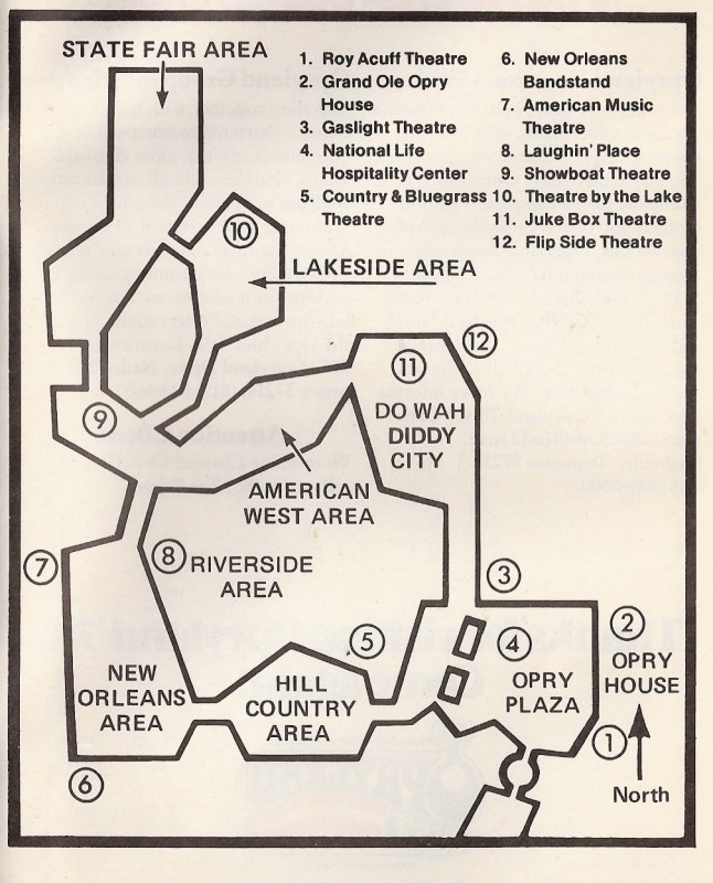 Opryland Usa Map.Theme Park Review Opryland U S A