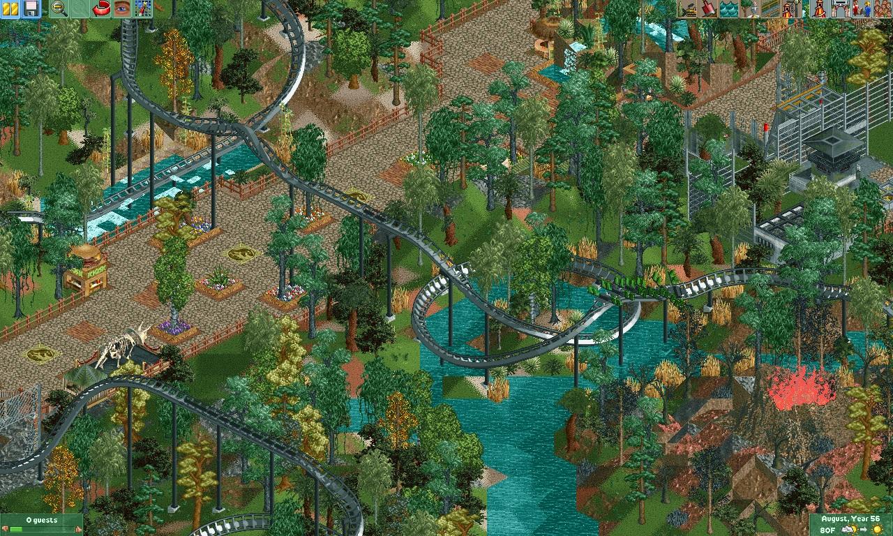 Theme Park Review • Jurassic Park-Isla Nora [RCT2]